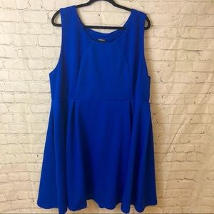 Torrid bright blue fit and flare dress